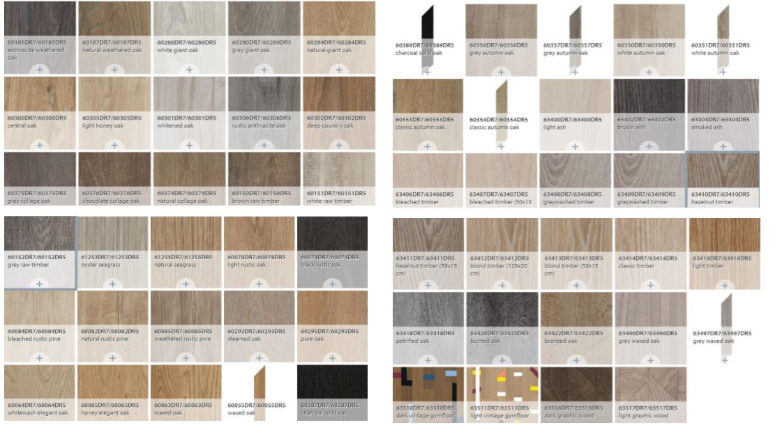 màu sắc sàn nhựa giả gỗ