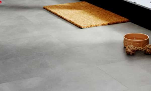 Mẫu sàn Allura Click màu xám trơn